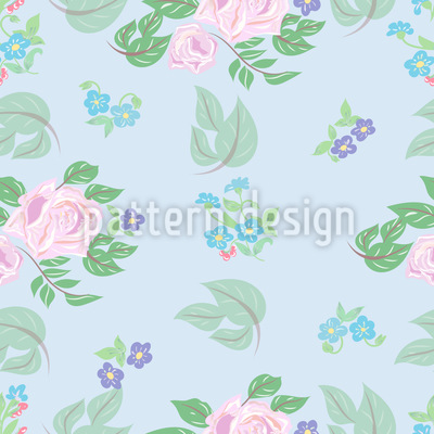 Roses And Florets Vector Ornament