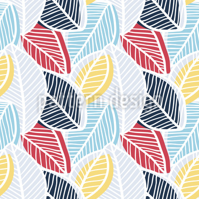 Leaf Layers Vector Pattern