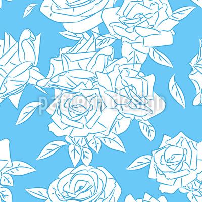 Kühle Rose Rapportiertes Design