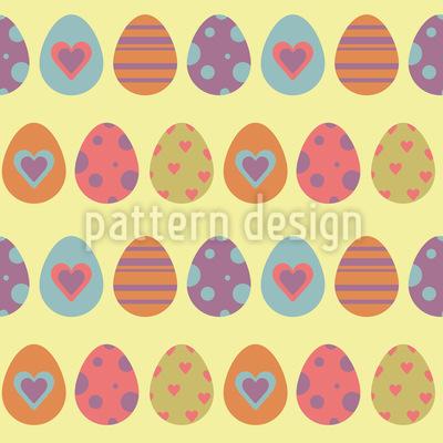 Schöne Ostereier Musterdesign