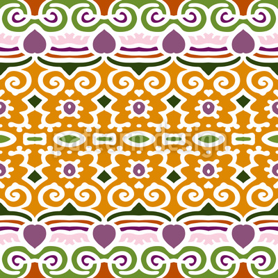 Decorated Way Seamless Pattern
