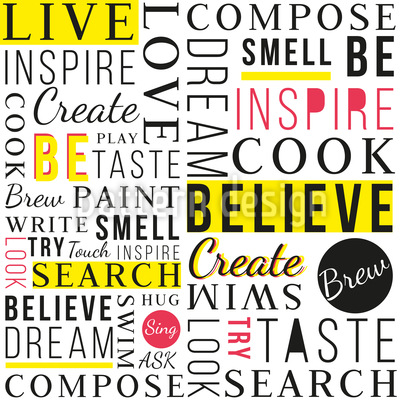 Be Inspired Seamless Vector Pattern