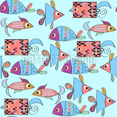 Pesce Fantasia disegni vettoriali senza cuciture
