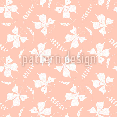Butterflies And Leaves Seamless Vector Pattern