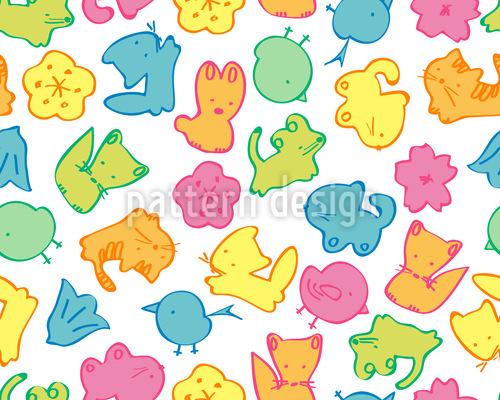 Gummi Tierchen Rapportiertes Design