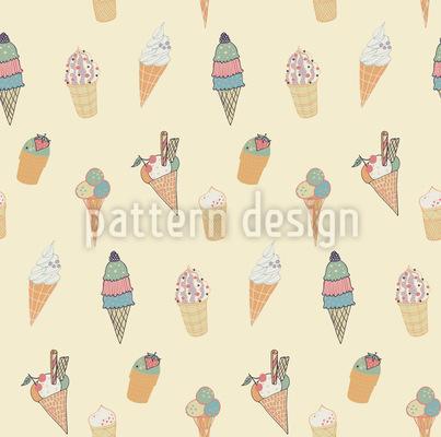 Eiscreme Muster Design