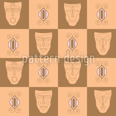 African Masks Vector Design