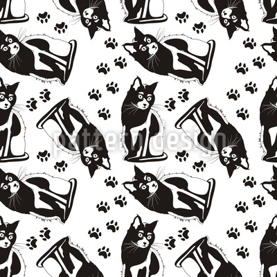 Cats On Their Watch Pattern Design