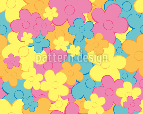 Floral Dance Seamless Vector Pattern
