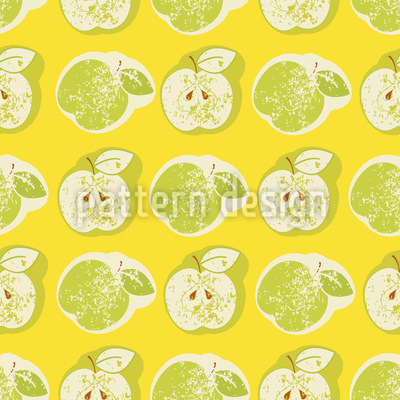Fresh Apples Seamless Vector Pattern Design