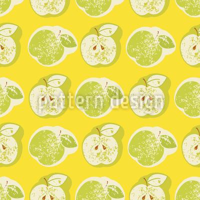 Frische Äpfel Nahtloses Vektormuster