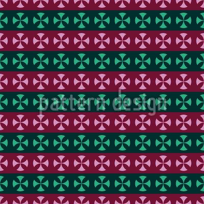 Kreuz Streifen Rapportiertes Design