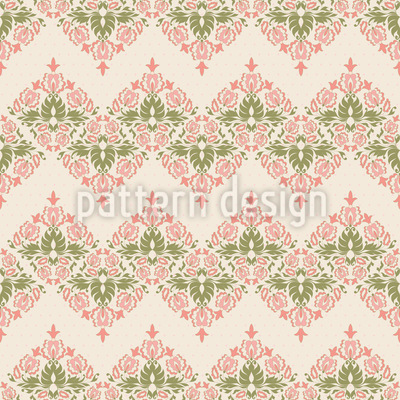 Vintage Floral Damask Vector Ornament