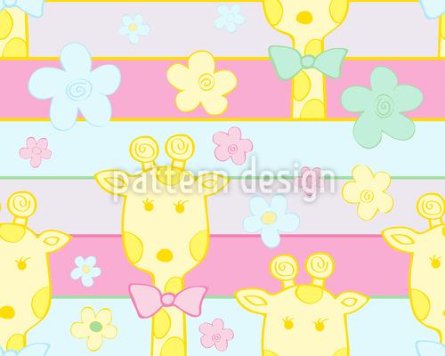 Baby Giraffen Nahtloses Vektor Muster