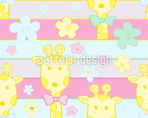 Baby Giraffes Seamless Vector Pattern Design