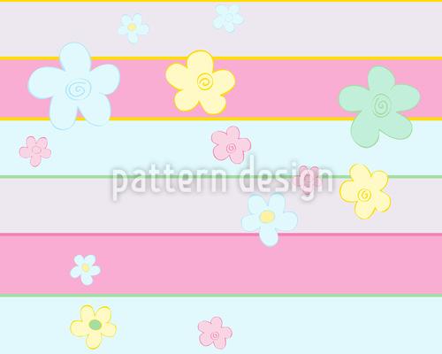 Blumen Treffen Streifen Musterdesign