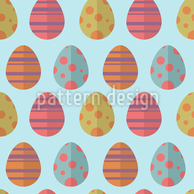 Colorful Easter Eggs Seamless Vector Pattern Design