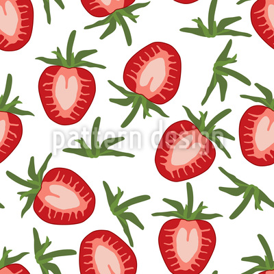 Sweet Strawberries Vector Ornament