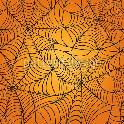 Spooky Cobweb Seamless Vector Pattern Design