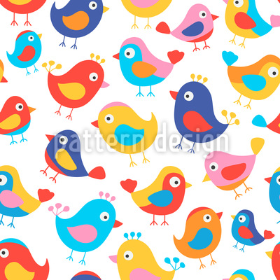 Happy Birds Vector Design