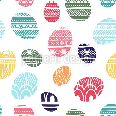 Gestrickte Ostereier Muster Design