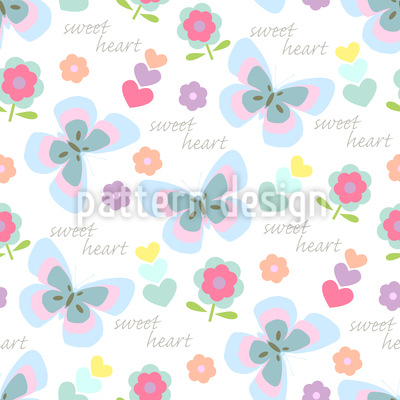 Spring Love Seamless Pattern