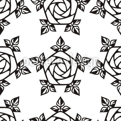 Gotische Rose Muster Design