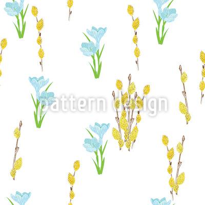 Blühende Ostern Rapportiertes Design