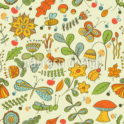 Small Life Seamless Vector Pattern Design