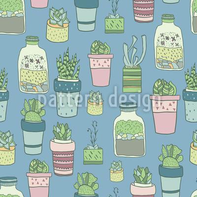 Topfpflanzen Sammlung Nahtloses Muster