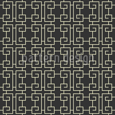 Chinese Fence Seamless Vector Pattern Design
