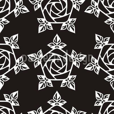 Medieval Rose Vector Pattern