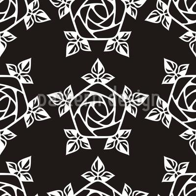 Mittelalterliche Rose Nahtloses Vektormuster