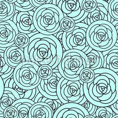 Roses On Plates Pattern Design
