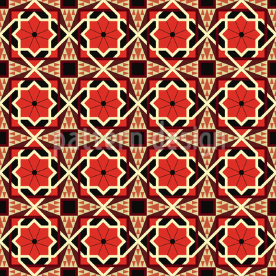 Arabischer Stil Nahtloses Muster