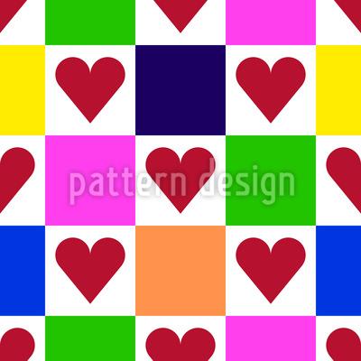 Karo mit Herz Designmuster