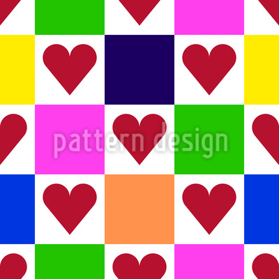 Square with Heart Design Pattern