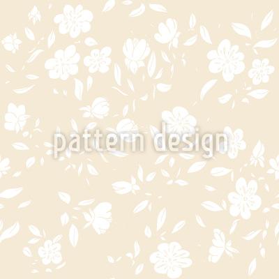 Romantische Vintage Blüten Vektor Ornament