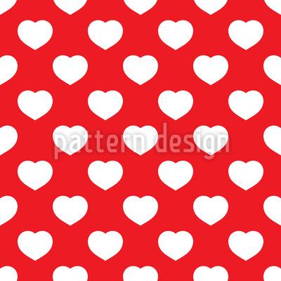 Überall Herzen Nahtloses Vektor Muster