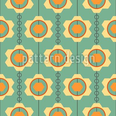 Aufgereihte Zahnradblüten Vektor Muster