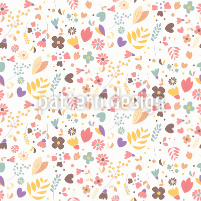 Hand Drawn Flowers Vector Design