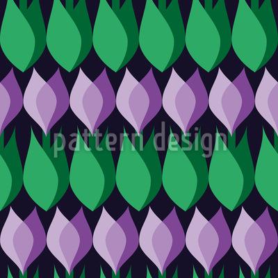 Crocus Seamless Pattern