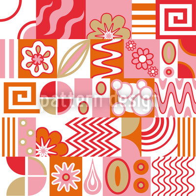 Retro Potpourri Light Pattern Design