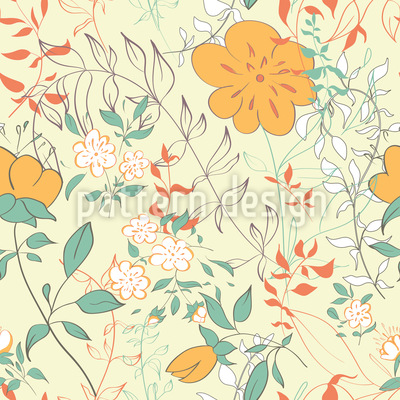 I Dream Of Flowers Pattern Design