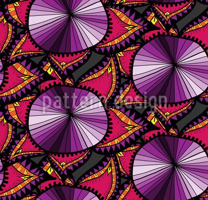 Orientalisches Blumen Doodle Nahtloses Muster