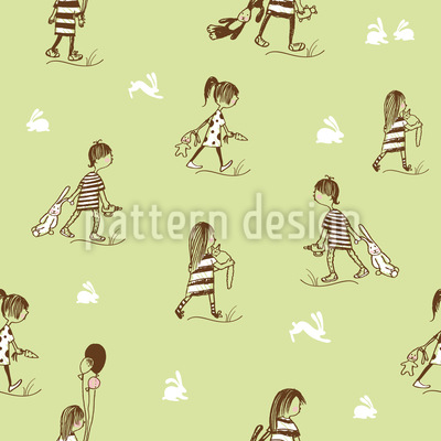 A Walk In The Woods Seamless Vector Pattern Design