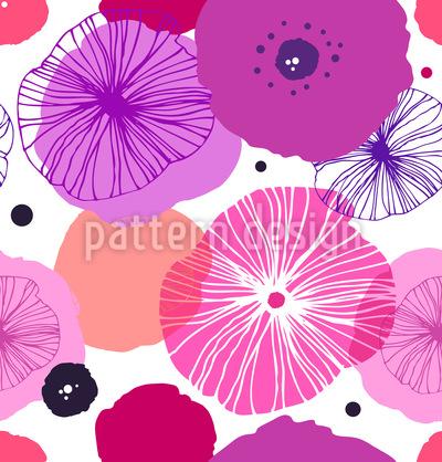 Stylish Poppy Vector Ornament