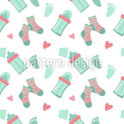 Baby Socken Und Flaschen Musterdesign