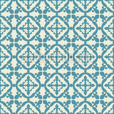 Moorish Tiles Seamless Vector Pattern Design