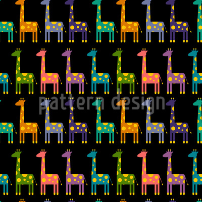 Giraffe Parade Vector Design